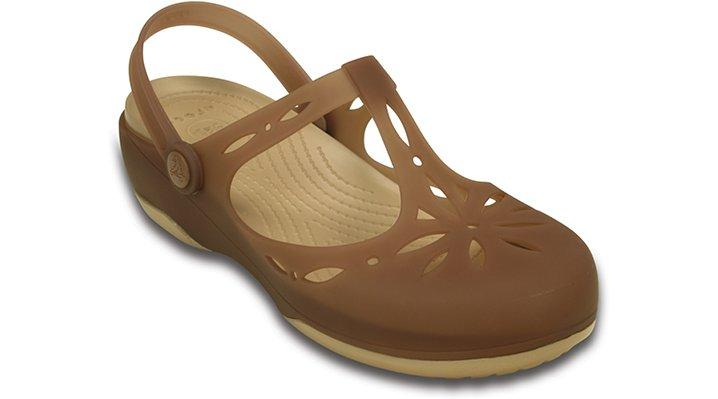 Crocs Bronze / Gold Women'S Crocs Carlie Cut Out Clog Shoes