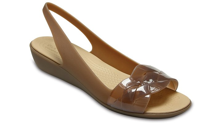 Crocs Bronze / Gold Women's Crocs Isabella Slingback Shoes