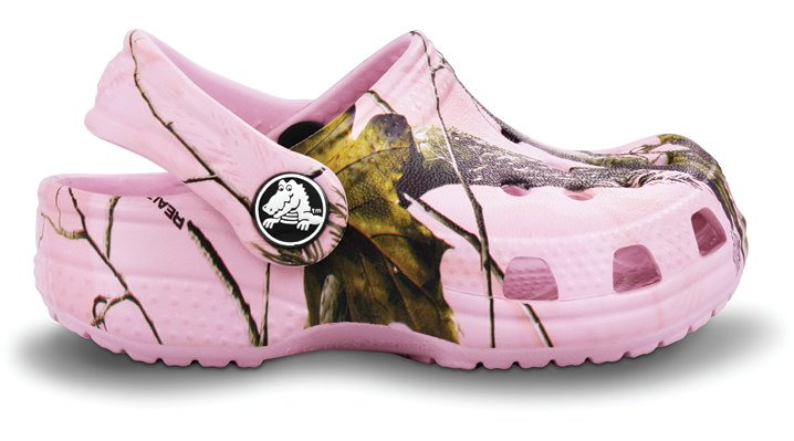 Crocs Bubble Gum Crocs Littles Realtree Kids' Camo Clogs