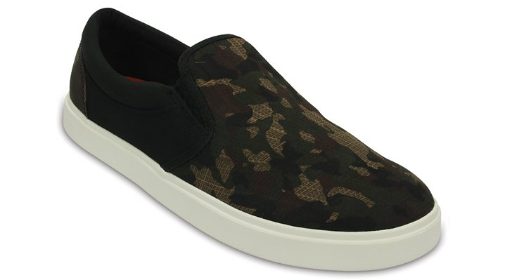Crocs Camo / Black Men'S Citilane Graphic Slip-On Sneaker Shoes
