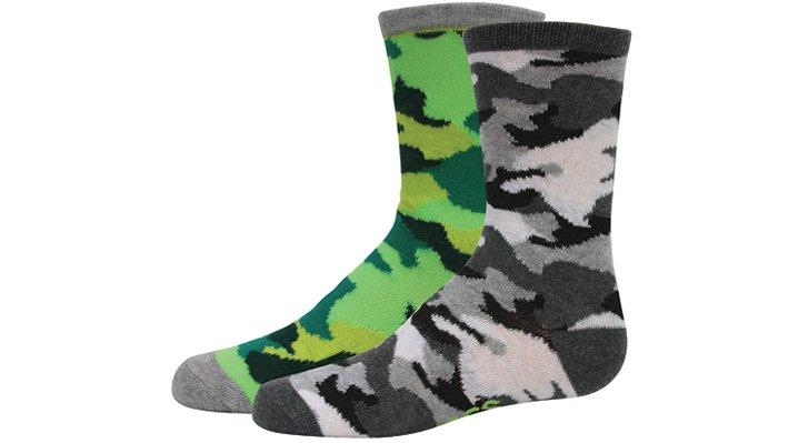 Crocs, Inc. Crocs Camouflage Boys' Active Crew Socks 2 - pack Shoes
