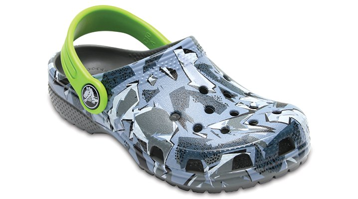 Crocs Camouflage Kids' Classic Graphic Clog Shoes