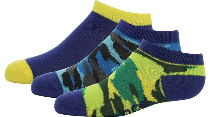 Crocs Camouflage Kids' Low Fashion Socks 3-Pack Shoes