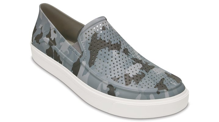 Crocs Camouflage Men's Citilane Roka Camo Slip-Ons Shoes