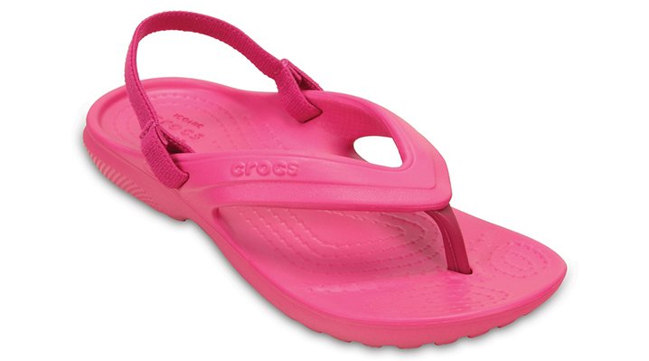 Crocs Candy Pink Kids' Classic Flip Shoes
