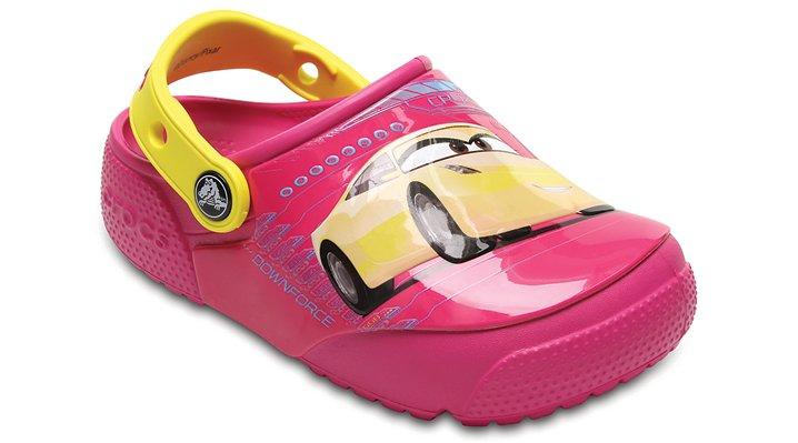 Crocs Candy Pink Kids' Crocs Fun Lab Lights Cars™ 3 Clog Shoes
