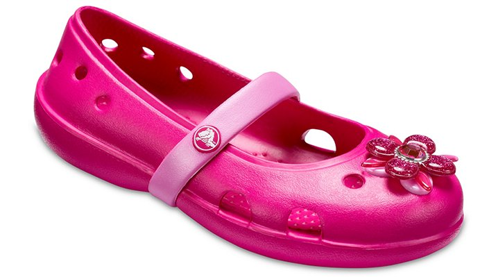 Crocs Candy Pink Kids' Crocs Keeley Springtime Flats Shoes