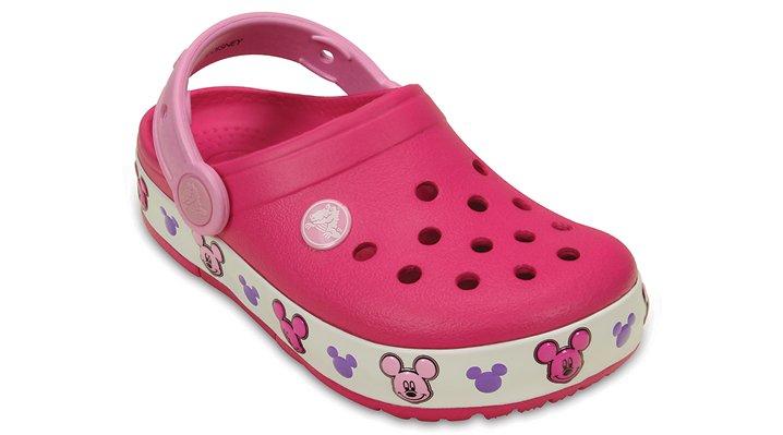 Crocs Candy Pink Kids' Crocslights Mickey™ Clog Shoes