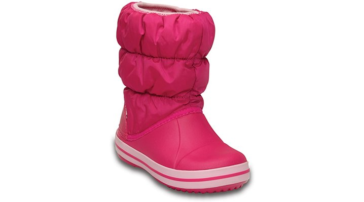 Crocs Candy Pink Kids' Winter Puff Boot Shoes