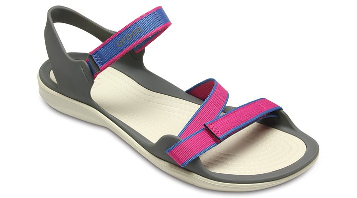 Crocs Candy Pink Women's Swiftwater Webbing Sandal Shoes