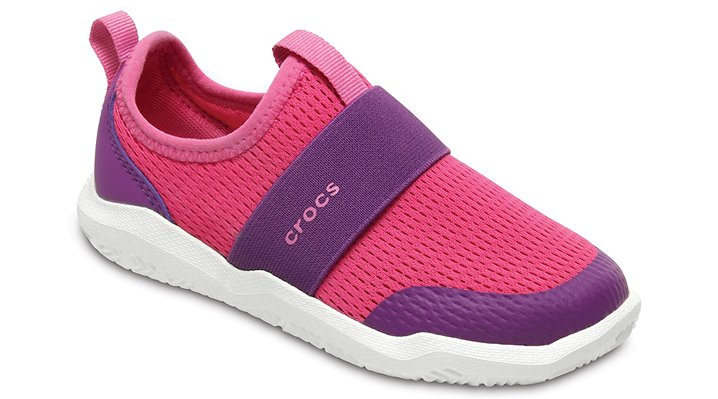 Crocs Candy Pink / Amethyst Kids' Swiftwater Easy-On Shoes Shoes
