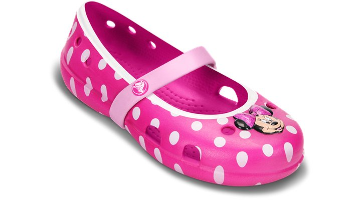 Crocs Candy Pink / Carnation Keeley Minnie Flat Shoes
