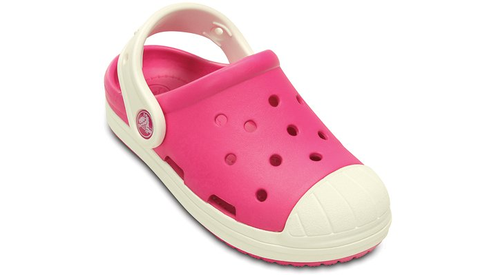 Crocs Candy Pink / Oyster Kids' Crocs Bump It Clog Shoes