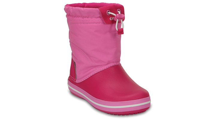Crocs Candy Pink / Party Pink Kids' Crocband™ Lodgepoint Boot Shoes