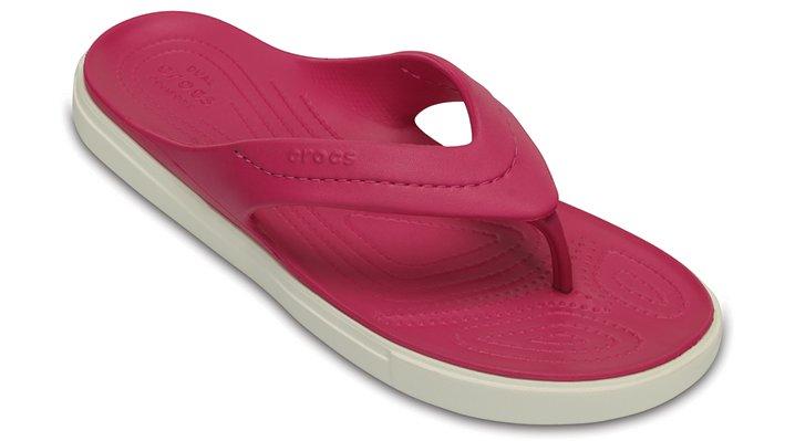 Crocs Candy Pink / White Citilane Flip Shoes