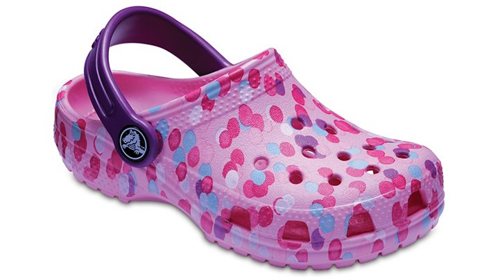 Crocs Carnation Kids' Classic Graphic Clog Shoes
