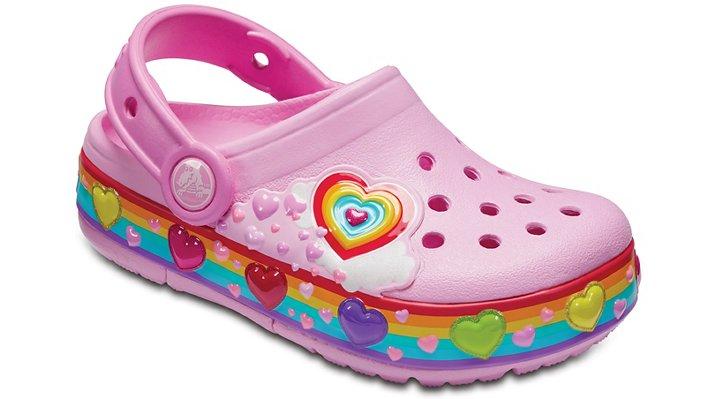 Crocs Carnation Kids' Crocband™ Fun Lab Graphic Lights Clogs Shoes