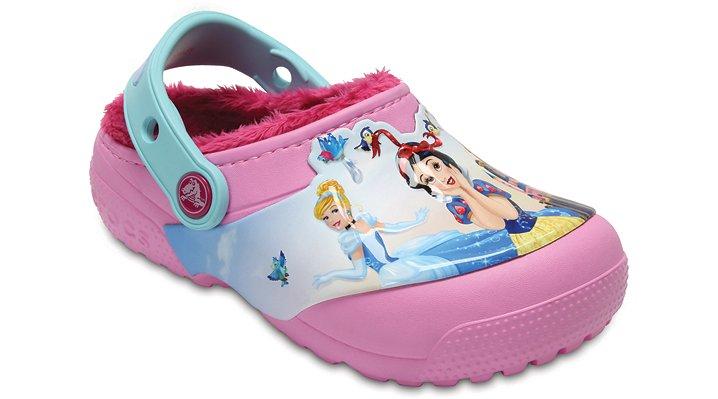 Crocs Carnation Kids' Crocs Fun Lab Fuzz Lined Princess™ Clog Shoes