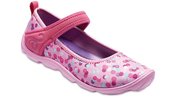 Crocs Carnation Kids' Duet Busy Day Mary Jane Graphic Shoes