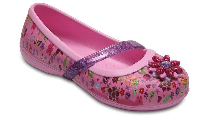 Crocs Carnation / Iris Kids' Crocs Lina Graphic Flat Shoes