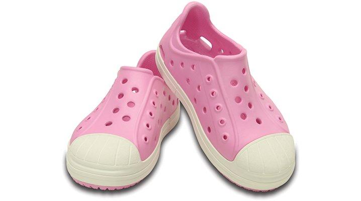 クロックス 公式オンラインショップ【クロックス公式】【送料無料】【最短翌日お届け】 クロックス バンプ イット シュー キッズ - Crocs Bump It Shoe Kids 17.5cm ピンク スニーカー
