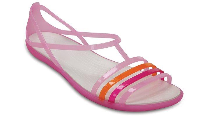 Crocs Carnation / White Women'S Crocs Isabella Sandal Shoes