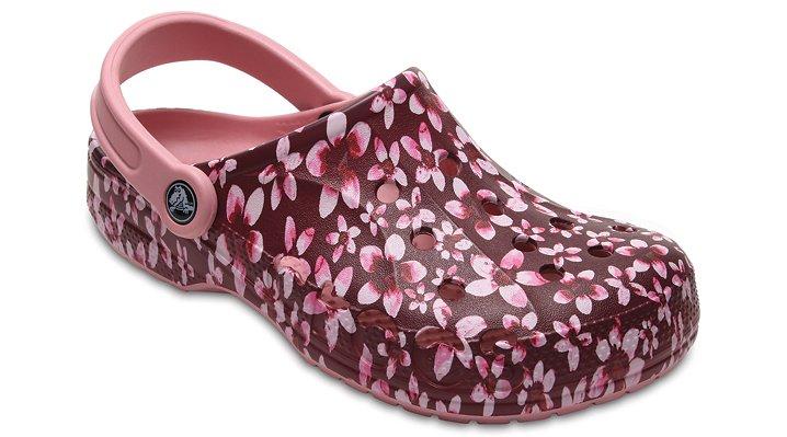 Crocs Cashmere Rose Baya Graphic Clogs Shoes