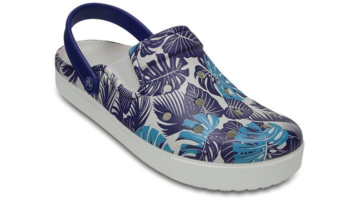 Crocs Cerulean Blue Citilane Graphic Clog Shoes