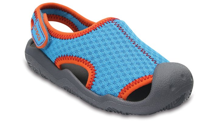 Crocs Cerulean Blue / Smoke Kids' Swiftwater Sandals Shoes