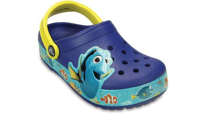 Crocs Cerulean Blue / Lemon Kids' Crocslights Finding Dory™ Clog Shoes