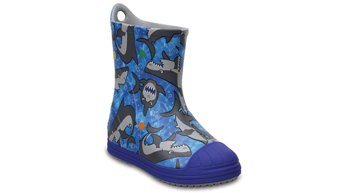 Crocs Cerulean Blue / Multi Kids' Crocs Bump It Graphic Rain Boot Shoes