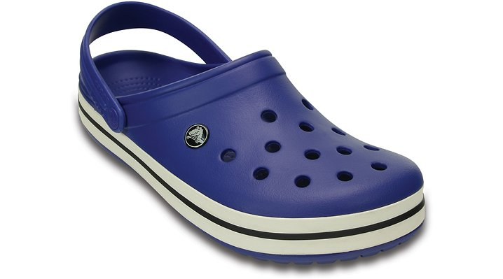 Crocs Cerulean Blue / Oyster Crocband Comfortable Clogs