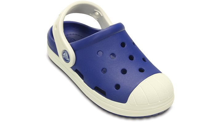 Crocs Cerulean Blue / Oyster Kids' Crocs Bump It Clog Shoes