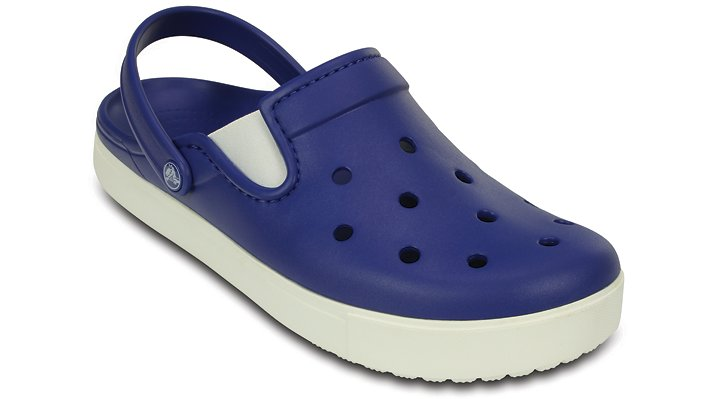 Crocs Cerulean Blue / White Citilane Clog Shoes