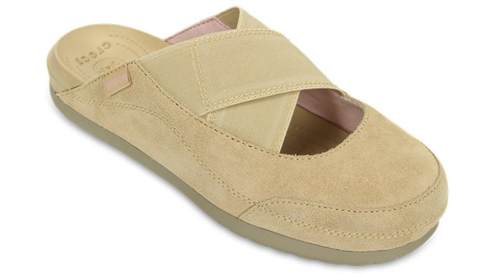 Crocs Chai / Khaki Women'S Crocs Edie Mule Shoes