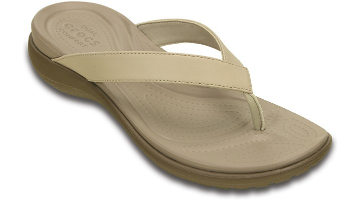 Crocs Chai / Walnut Women'S Capri V Flip Shoes