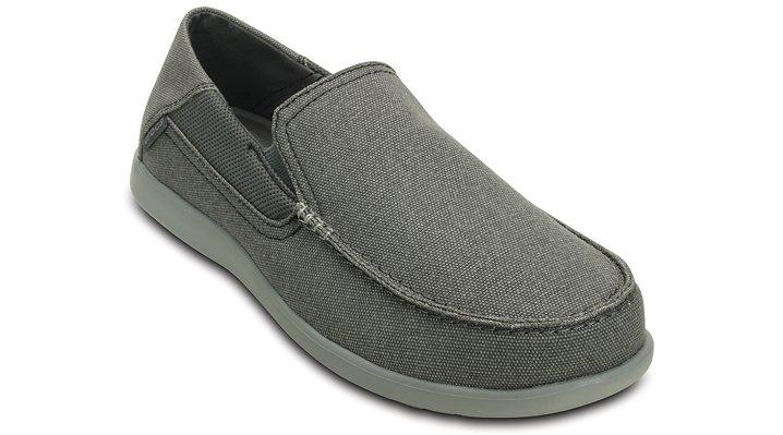 Crocs Charcoal / Light Gray Men'S Santa Cruz 2 Luxe Loafer Shoes