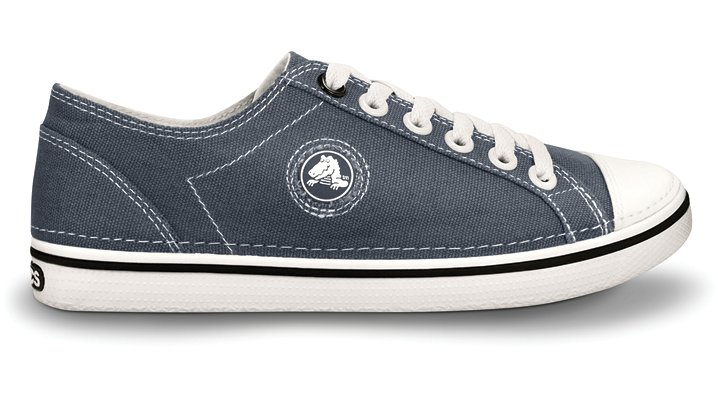 Crocs Charcoal / Oyster Women's Hover Lace-Up Canvas Women's Comfortable Sneakers