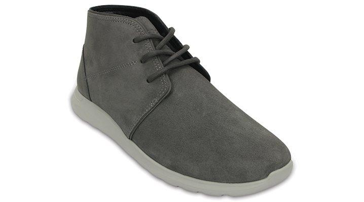 Crocs Charcoal / Pearl Men'S Crocs Kinsale Chukka Shoes