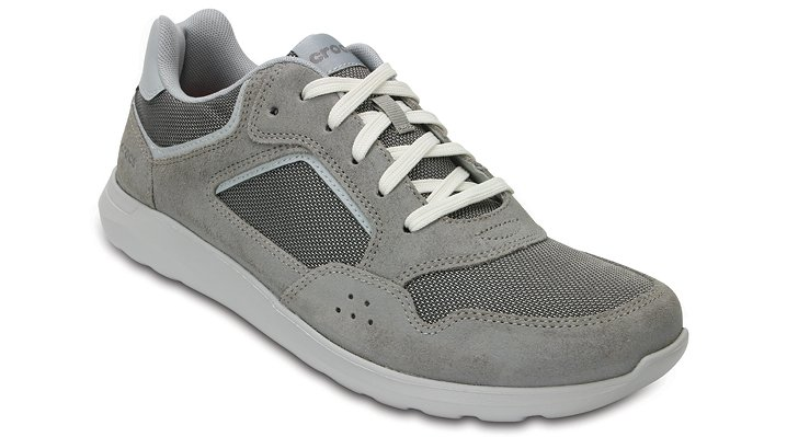 Crocs Charcoal / Pearl Men's Crocs Kinsale Pacer Shoes