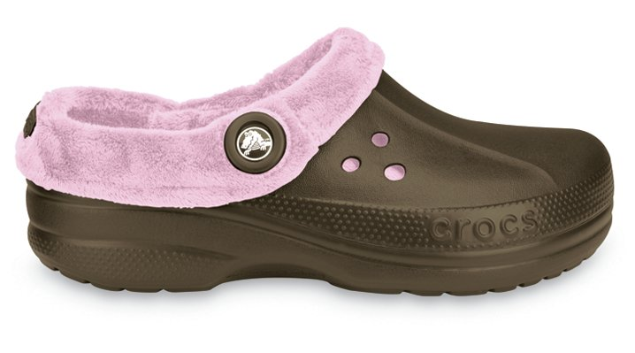 Crocs Chocolate / Bubble Gum Blitzen Polar Comfortable Furry Clog