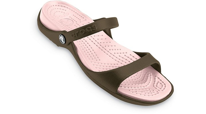 Crocs Chocolate / Cotton Candy Cleo Shoes