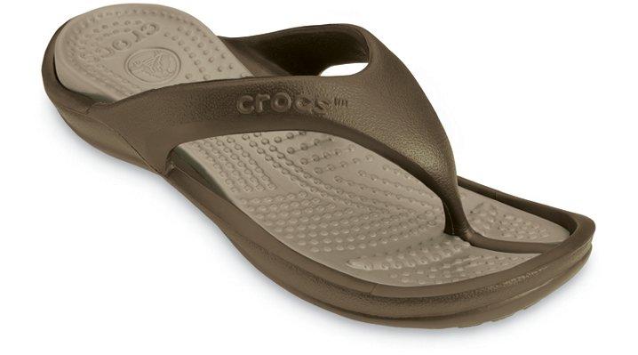 Crocs Chocolate / Khaki Athens Comfortable Flip Flops