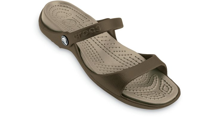 Crocs Chocolate / Khaki Cleo Woman's Comfortable Sandals