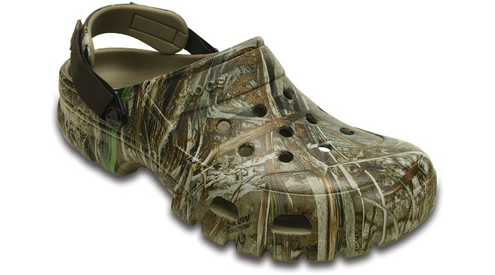 Crocs Chocolate / Khaki Offroad Sport Realtree® Max-5 Clog Shoes 203462282