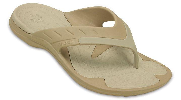Crocs Cobblestone / Tumbleweed Modi Sport Flip Shoes