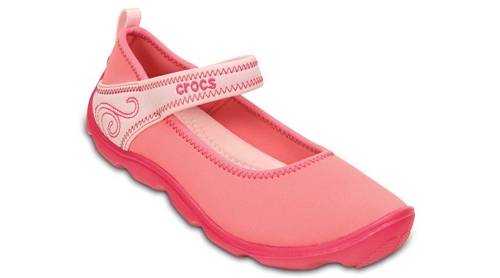 Crocs Coral / Ballerina Pink Girls' Duet Busy Day Mary Jane (Juniors') Shoes