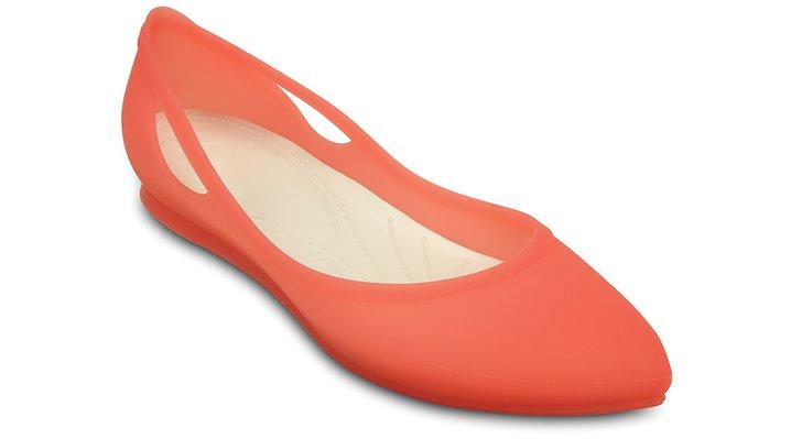 Crocs Coral / Oyster Women'S Crocs Rio Flat Shoes 162656CB