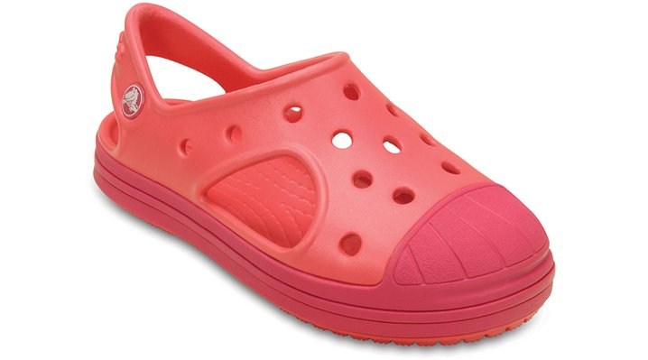 Crocs Coral / Raspberry Kids' Crocs Bump It Sandal Shoes