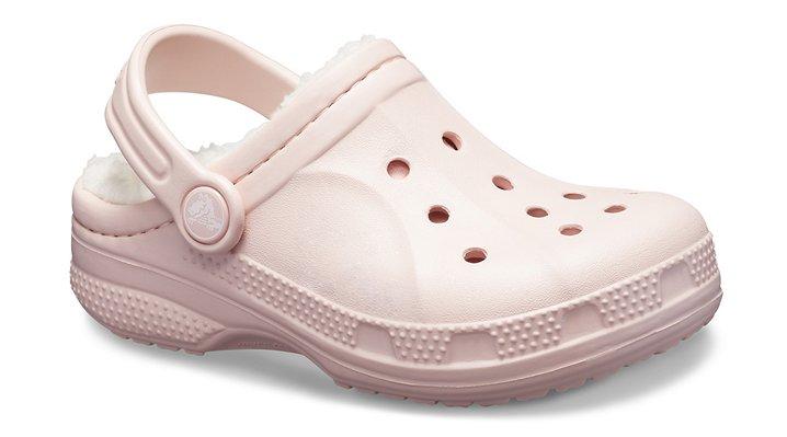 Crocs Cotton Candy / Oatmeal Kids' Ralen Fuzz Lined Clog Shoes